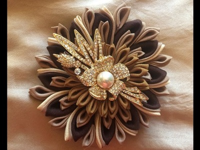 DIY How to Make a Fabric Flower Brooch (step by step)