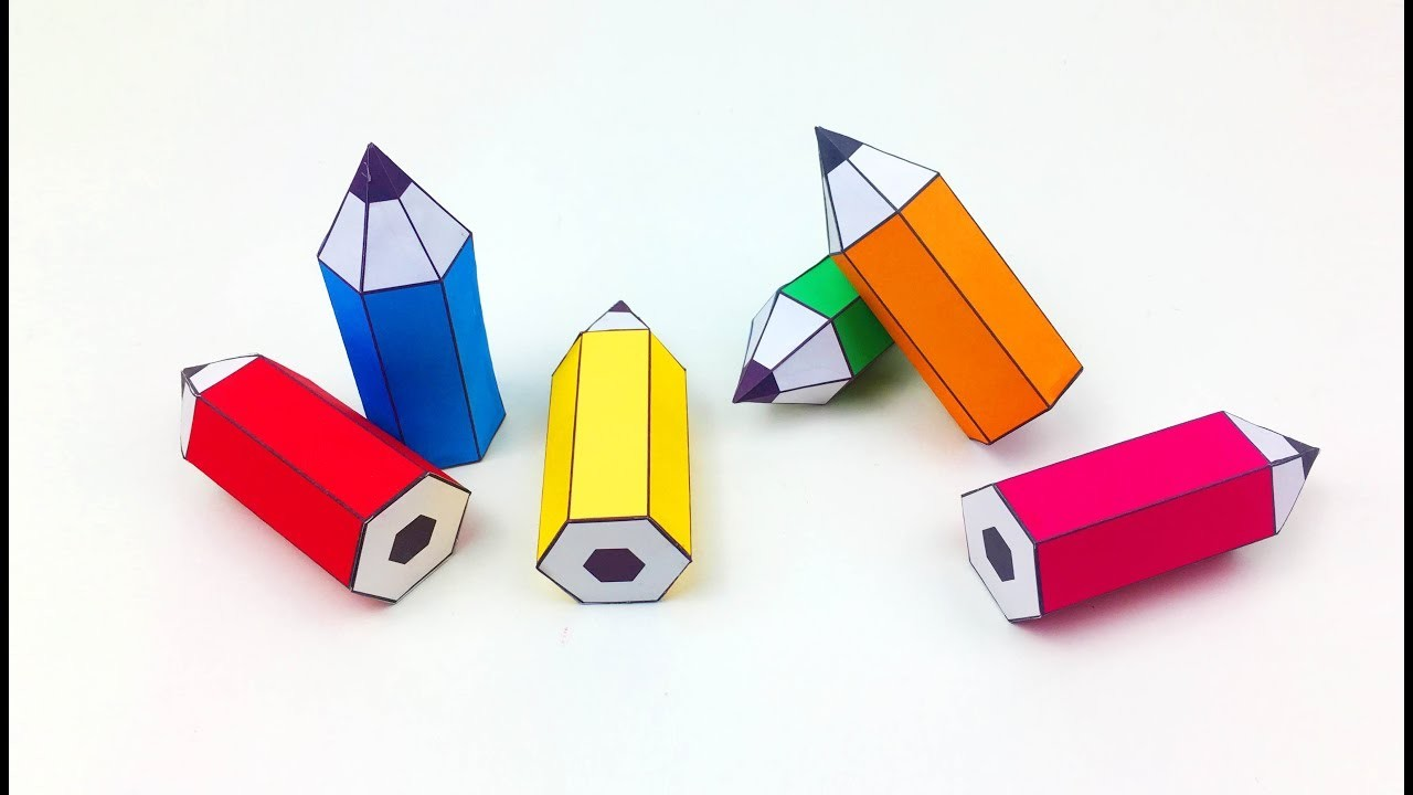 Diy how to make a paper pencil paper crafts for kids for How to make paper crafts