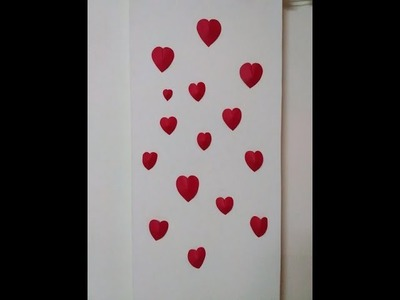 DIY How to make simple 3D heart wall decoration. (Wedding, Valenitne's)