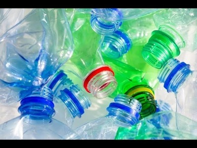 Diy\how to make use of waste plastic bottles in home.hair clips organizer