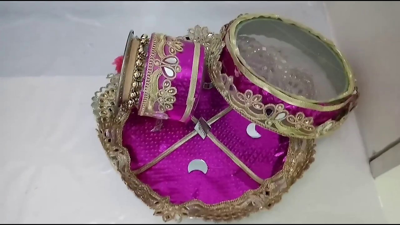 DIY KarvaChauth Puja Thali Set Making Idea | How To | CraftLas