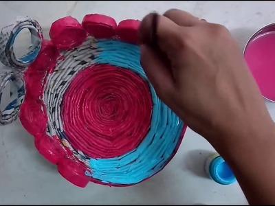 DIY Make Singhasan.Throne With Newspaper   How To   CraftLas