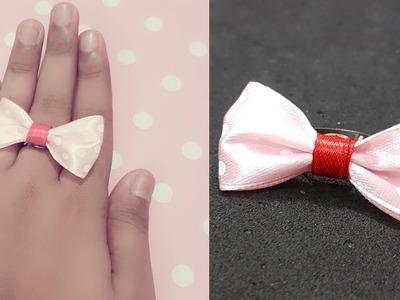 DIY Ring. How to make Ring.Ribbon ring. DIY Jewelry.Bow