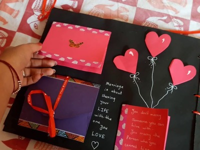 DIY Scrapbook for Valentine's Day