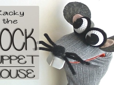 DIY SOCK PUPPET MOUSE - How to make no-sew puppets from socks (Ep.01: Racky the Rat) | Edu Props