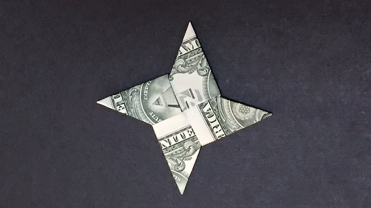 dollar bill origami ninjyastar how to fold ninjyastar