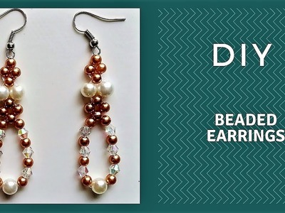 Easy earrings idea. How to make handmade earrings in no time at home