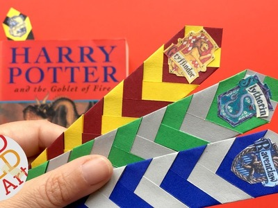 Easy Harry Potter Bookmark DIY  - How to make a Chevron Bookmark DIY  - Easy Paper Bookmark Ideas