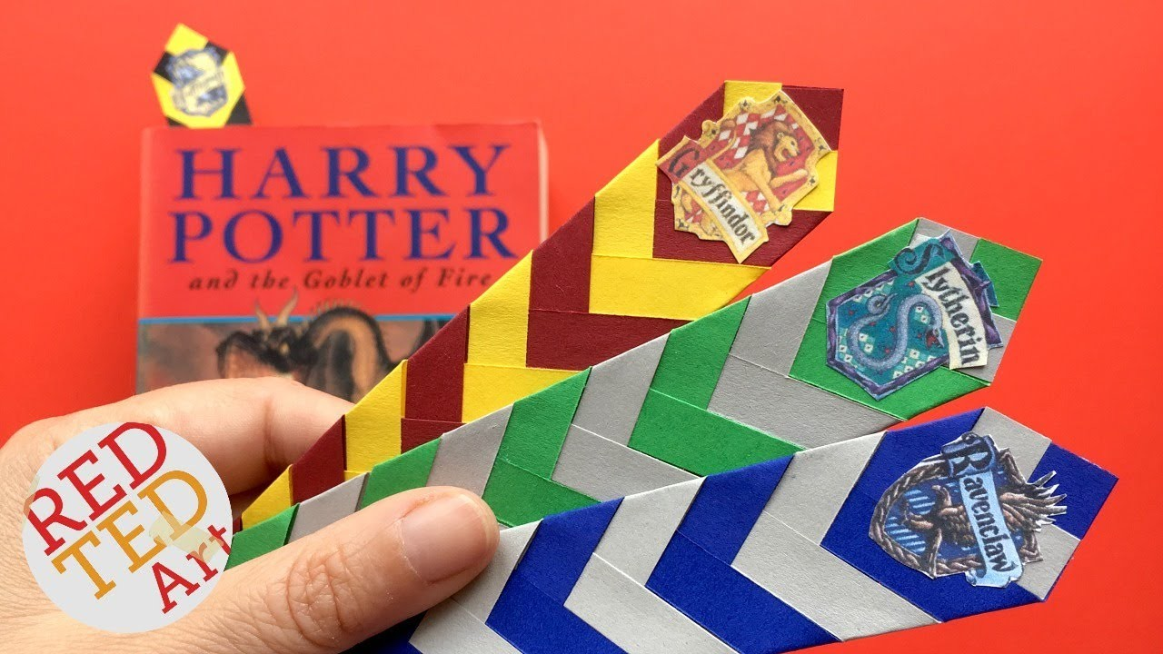 Easy Harry Potter Bookmark Diy How To Make A Chevron