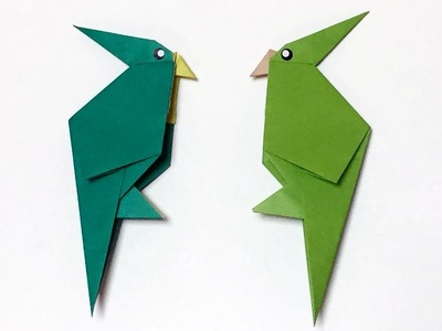 Easy Origami Parrot | How to Make a Paper Bird Parrot with only One Piece of Paper