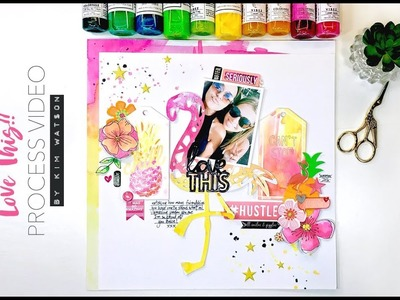 Five mixed media techniques for your next scrapbook page process video for Hip Kit Club