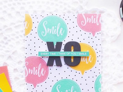 Fun Stamped Background + How to Add Personal Touches to Your Card.Envelope