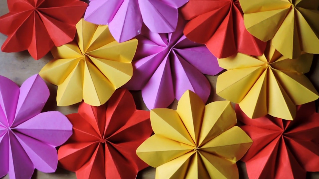 Ganpati Decoration || How to make a paper flowers for decoration ||Ganpati decoration final ||