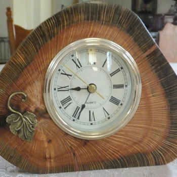 Hand Made Wooden Desk Clock