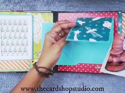 Handmade Baby Boy - First Year Scrapbook Album only on thecardshopstudio.com