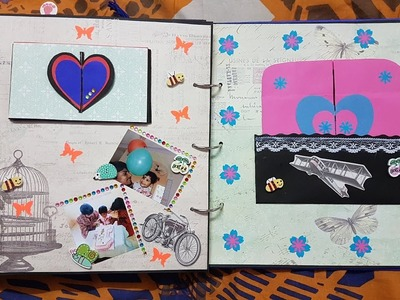 Handmade scrapbook for baby boy by DIY Diaries - Colour Splash