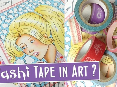 How to Color With Washi Tape: Using Washi Tape in Art Tutorial