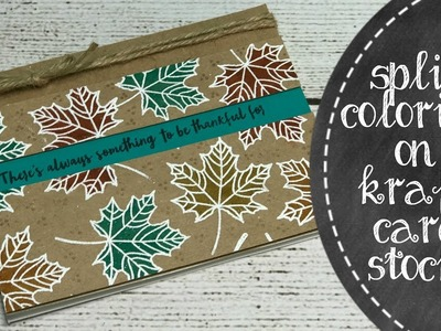 How To Create A simple Painted Leaves Fall Inspired Card