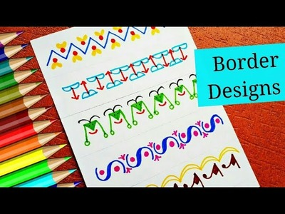 How to decorate project file border || BORDERS AND FRAMES DESIGNS || Project ideas