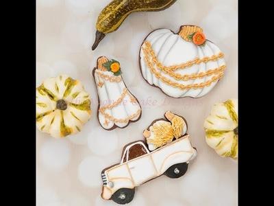 How to Decorate Vintage Pumpkin Cookies ????????????