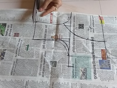 How to do fasion designer katori blouse paper cutting of 30''