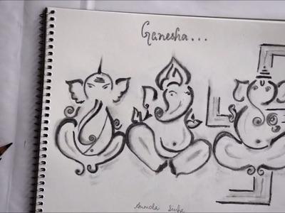 How to draw Ganesha.Ganpati very easy for kids;7