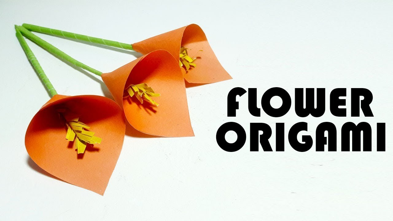 How To Fold An Easy Origami Flowersimple Make A Paper Flowereasy