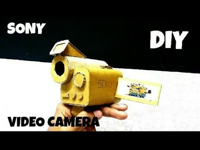 How to make a amazing Video Camera Out of cardboard | DIY | HOW TO | CARDBOARD | KMA INSANE HACKER