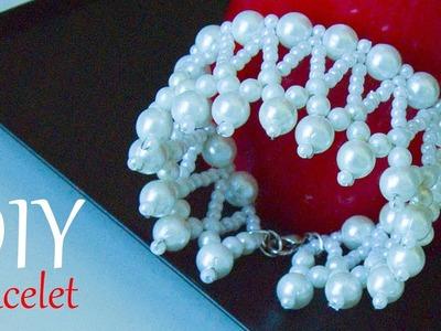 How to make a beautiful pearl bracelet for bride | Easy DIY bridal Bracelets