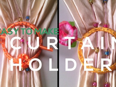 How To Make A Curtain Holder From Plastic Lid