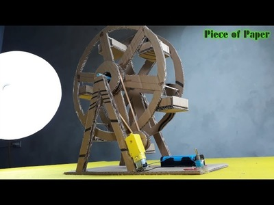 How to make a ferris wheel From spinner - Yellow motor DC -[Piece of Paper]