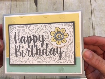 How to make a fun Happy Birthday Card with a great color combo