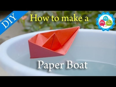 How to Make a Paper Boat Origami | Kids Crafts | Bubbly Dots Crafts