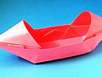 How to make a paper boat that floats. Origami boat canoe