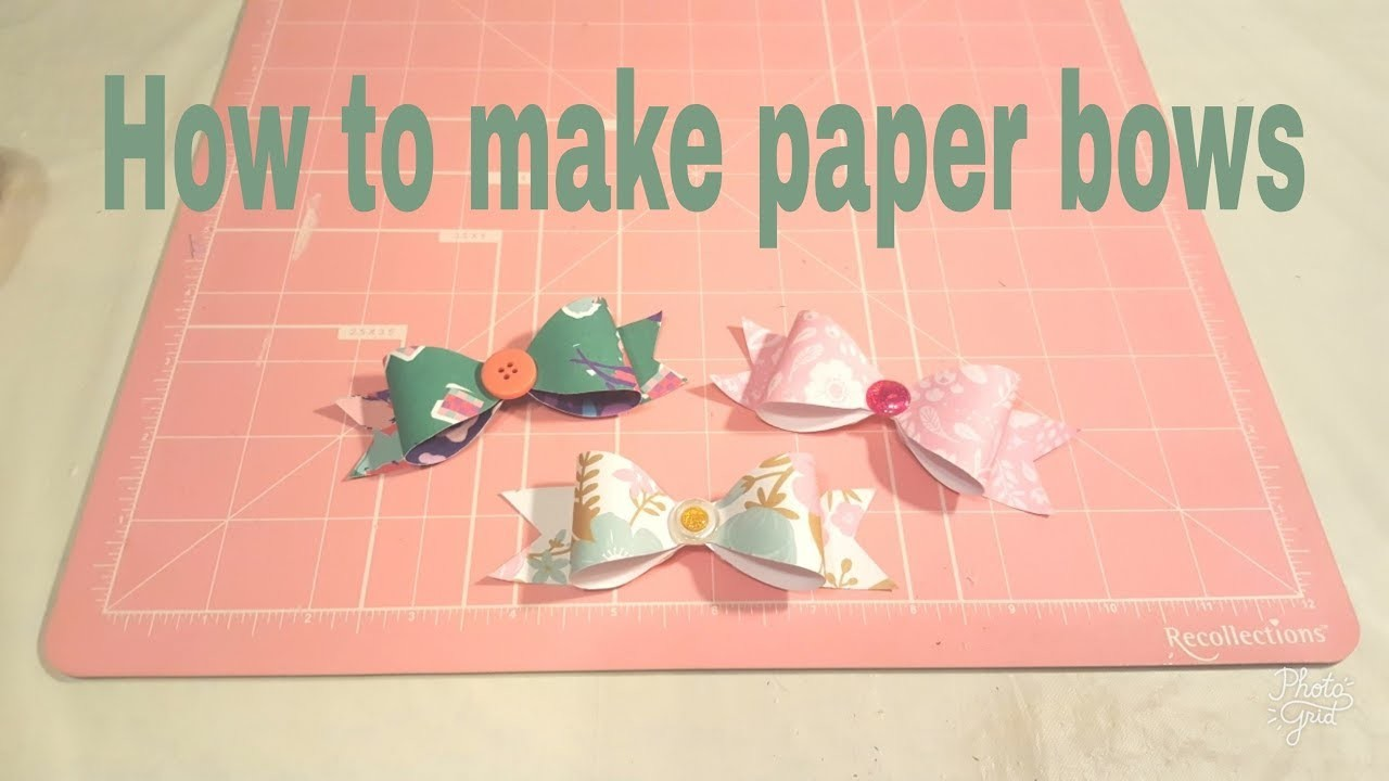 How to make a paper bow using a template | Planning With Eli
