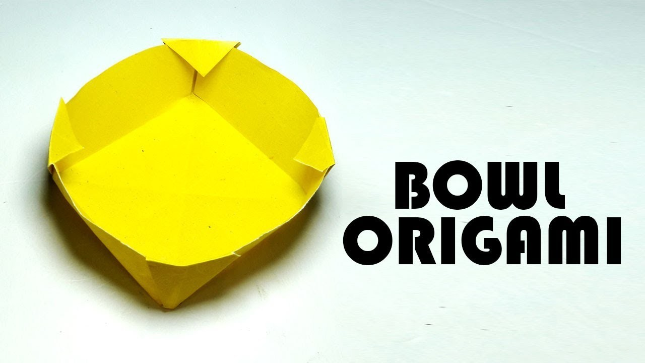 How to make a paper bowl how to fold origami bowl easy for How to make a newspaper bowl