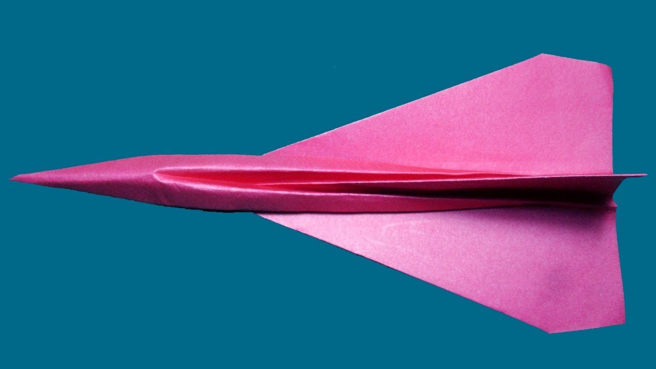 How to make a Paper airplane?Origami paper airplane.
