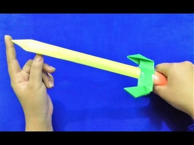 How to make a Paper Sword - Paper Ninja Sword - Easy Sword Tutorial