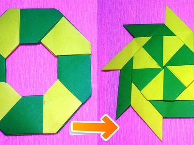 How To Make a Paper Transforming Ninja Star - paper origami easy - origami ninja star instructions