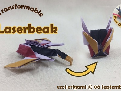 How to make a Papercraft, Origami Laserbeak (requires 1 straight cut)