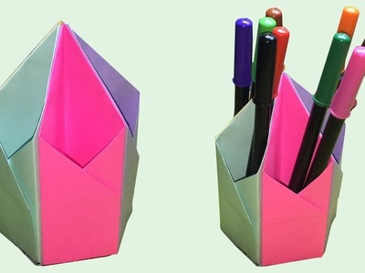 How to make a pen stand | pen holder diy | paper pencil holder | pencil stand | do it yourself ????