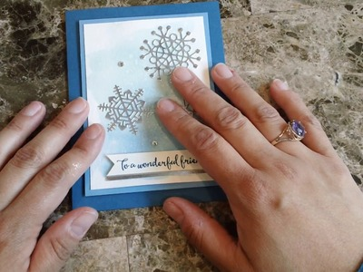 How to make a quick and easy card using the color theory suite from Stampin' Up!