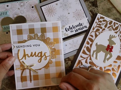 How to make a quick and easy card using the year of cheer paper