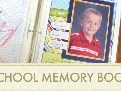 How to Make a School Memories Book with Kid's Art & Keepsakes