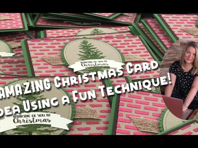 How to Make a Season Like Christmas Card by Coloring Embossing Paste