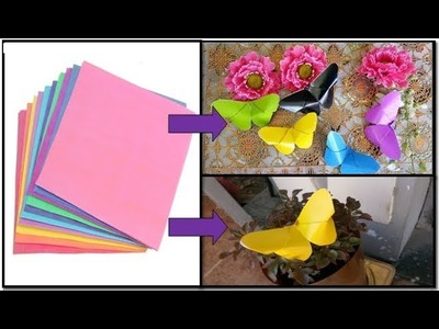 How to make a simple butterfly from origami paper - origami kupu-kupu