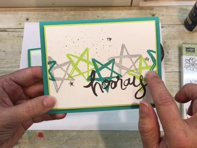 How to make a simple Watercolor Words Card (Mine is for Back to School)