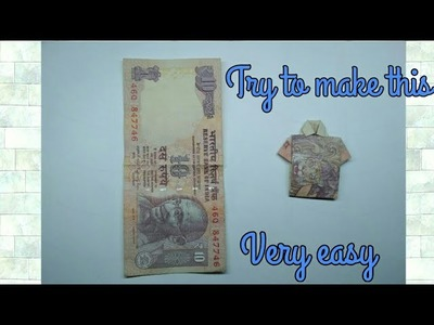 How to make a T-shirt from rs. 10 note | DIY | Without tearing.