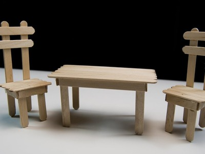 How To Make a Wooden Table and Chair Popsicle Sticks