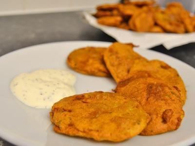 How To Make Aloo Pakora (Spicy Battered Potato Slices)   Shamsa's Kitchen